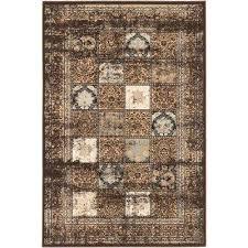 shahrzad versailles dark brown 8 ft x 11 ft area rug