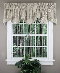 olivia scalloped valance blue