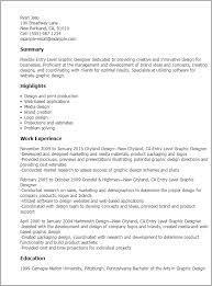 Entry Level Resume Template Beauteous 60 Entry Level Graphic Designer Resume Templates Try Them