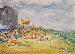 myrtle beach sc plein air watercolor paintings by raleigh fine artist tesh parekh art