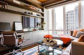 home office sofa. Office With Sofa Home Contemporary Built-in Cabinets Modern Storage