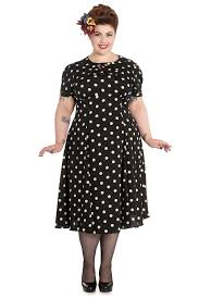 1940s Costume & Outfit Ideas  16 Women's Looks Hell Bunny Plus Size Sweet  Office Lady
