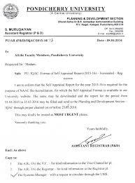 Request Iqac Format Of Self Appraisal Report 2015 16
