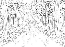 Tranh tô màu người lớn] – 7 bức tranh tô màu người lớn Cô gái và khu rừng –  Jungle vs Forest – Tinh Tinh