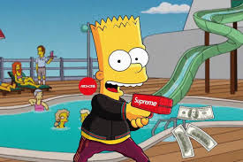 dope bart simpson supreme wallpapers