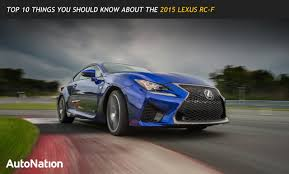 Top 10 Things You Should Know About The 2015 Lexus RC F ...