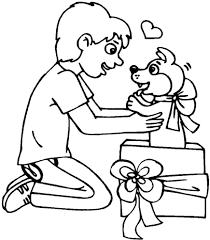 Disegno Di Un Cucciolo Per Regalo Da Colorare Per Bambini Con