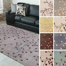 rug 8x11. hand-tufted sakura branch floral wool area rug (8\u0026#x27; 8x11 -