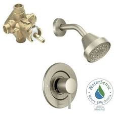 two handle shower faucet brushed nickel align single handle 1 spray shower faucet trim kit with valve in brushed nickel pfister 3 handle tub shower