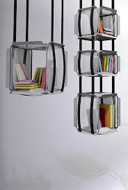 upside down bookcase Hanging Book Shelves