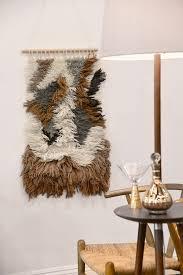Mid Century Wall Decor Shag Mid Century Wall Art Tapestry Brown Ivory Gray Woodwaves