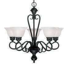millennium lighting devonshire 5 light chandelier in black
