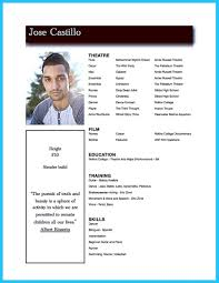 Actor Resume Template To Boost Your Career How Write An Acting For