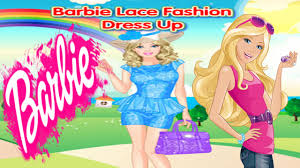 barbie lace fashion dress up games free barbie games