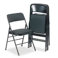 bridgeport deluxe padded seat and back folding chair
