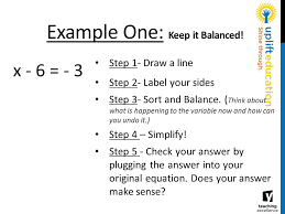 example one keep it balanced