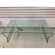 mikado tempered glass coffee table