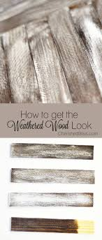 Grey Wash Wood Stain Diy Weathered Wood Stain Finishes Setting For Four