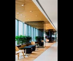 office pantry design. Forgoing The Traditional Use Of Stick-on Graphics, Law Has Instead Created A Feature Ceiling That Flows From Reception Area And Connects To Pantry Office Design H