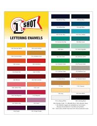 1 Shot Lettering Enamels