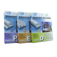 d e p draught excluder self adhesive rubber door window seal strip roll foam