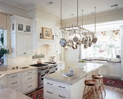 Hanging Kitchen Pot Rack Whistling Tea Kettle In Kitchen Traditional With Hanging Pots And