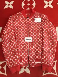 100 authentic supreme x louis vuitton leather blouson monogram jacket 1a3f
