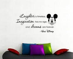 walt disney quote wall decal mickey