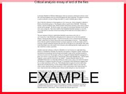 critical analysis essay of lord of the flies homework academic  critical analysis essay of lord of the flies two essays literary analysis essay lord of
