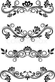 black vintage frame design. Antique Vintage Frames Isolated On White For Design, Vector Black Frame Design
