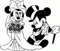 Disegni Da Colorare Minnie E Topolino Sposi Disegno Di Topolino