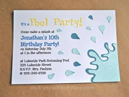 Make Your Invitation Make Pool Party Invitations Diy And Printable Template
