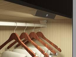 led closet light fixture hanger rod led wardrobe rail lighting 12v battery powered