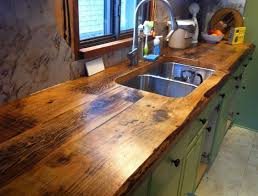 charming and classy wooden kitchen countertops reclaimed wood countertops