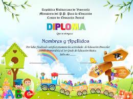 Plantillas De Diploma Preescolar Libro De Powerpoint Bs 2 500