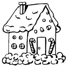 Gingerbread House Coloring Pages New For Toddlers Candy Cane Get