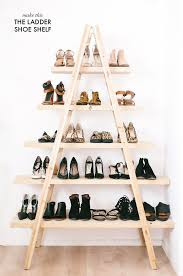 Not only is this shoe organizer handy, it makes a striking piece of room  decor. Ladder Shelf ...