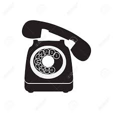 Old Telephone Design Old Telephone Black Icon Vector Design Illustration
