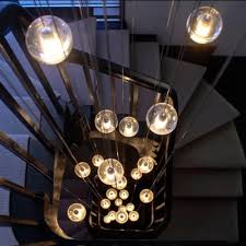 modern stairwell lighting. bocci 1426 chandelier modern stairwell lighting