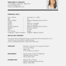 Student Resume Format Doc Inspirational Cv Template Word Pdf High