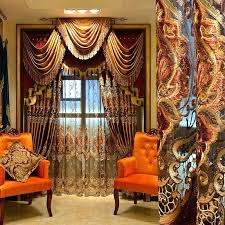 royal velvet curtains most luxury coffee royal velvet embroidery curtain brown living room ds for door