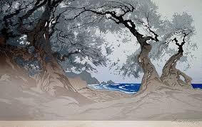 Bildergebnis für japanische holzschnitte von Landschaften