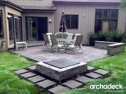 concrete patio with square fire pit. Ideas Of Belgard Patio With Square Fire Pit By Chicago Suburb Builder Best Outside Pits For Patios Concrete U