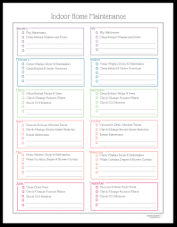 ... Medium To Large Size Of Seasonal Home Maintenance Checklist Printable  Yearly Monthly Annual Pdf ...