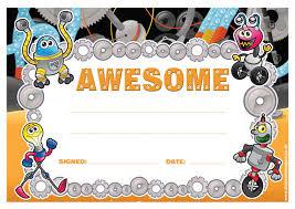 Kids Award Certificate School Certificates Awesome 30 Cool Robot Alien Design Certificates
