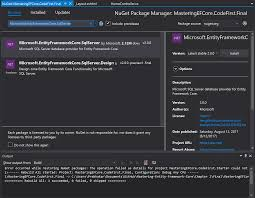 Microsoft Entityframeworkcore Design Installing Entity Framework Mastering Entity Framework