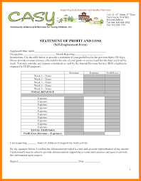 Profit And Loss Template For Self Employed Free Profit And Loss Template For Self Employed Invoice Sample