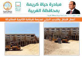 أبرز أعمال المبادرة... - مبادرة حياة كريمة بمحافظة الغربية