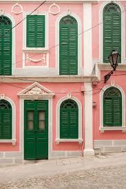 Coral Front Door Best 25 Green Shutters Ideas On Pinterest Cottage Exterior