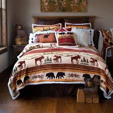 winter cabin bedding cabin quilts clearance bear bedding set hunting themed bedding sets rustic lodge bedding